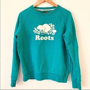 vintage Roots sweatshirt turquoise